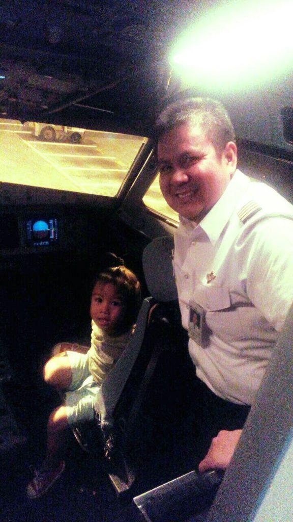 Our Little Guy with Captain Villanueva :)