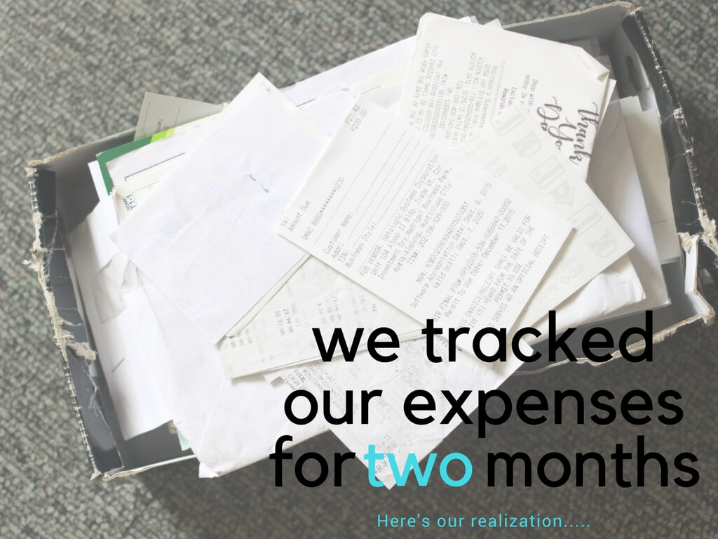 we tracked our expenses for months