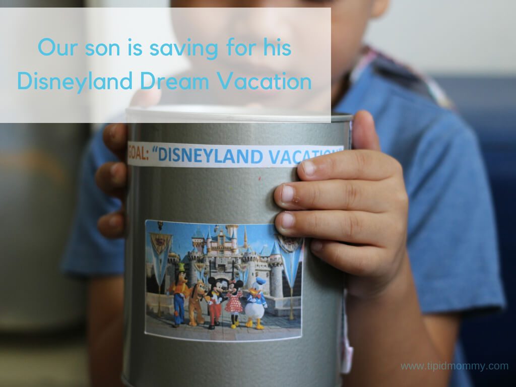 Our son is saving for his Disneyland Dream Vacation